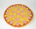 Enlarge - Artificial Pizza with ham and pineapple, 01031417